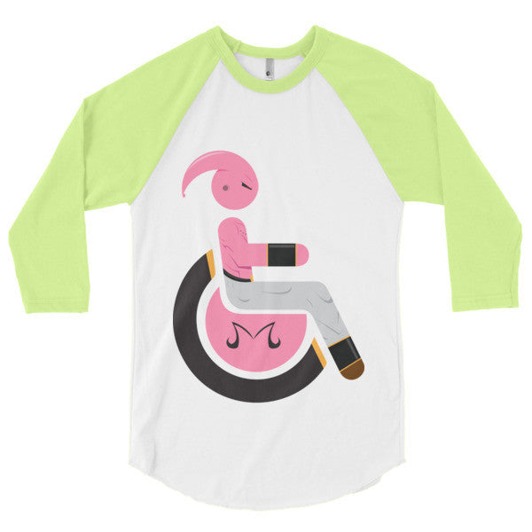 Men's Adaptive Kid Buu (Majin Buu) 3/4 Sleeve Raglan Shirt