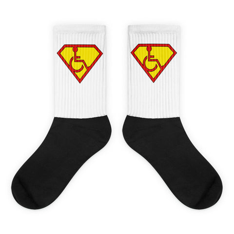 Adaptive S-Man Logo Black Foot Socks