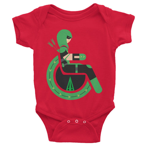 Adaptive Green Arrow Baby Onesie