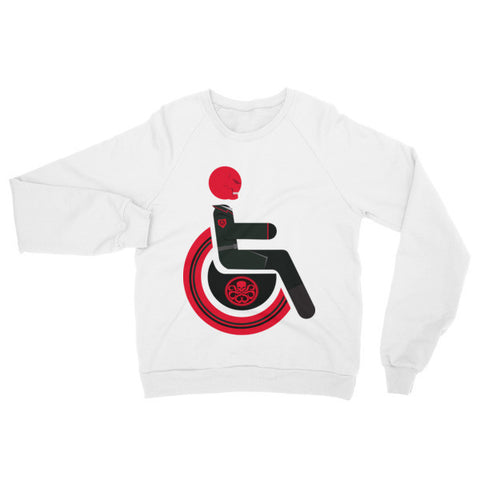 Adaptive Red Skull Raglan Sweater