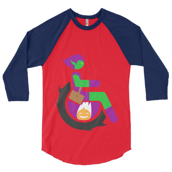 Men's Adaptive Green Goblin 3/4 Sleeve Raglan Shirt