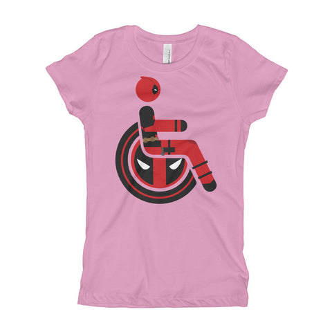 Girl's Youth Adaptive Deadpool T-Shirt (XS-XL)