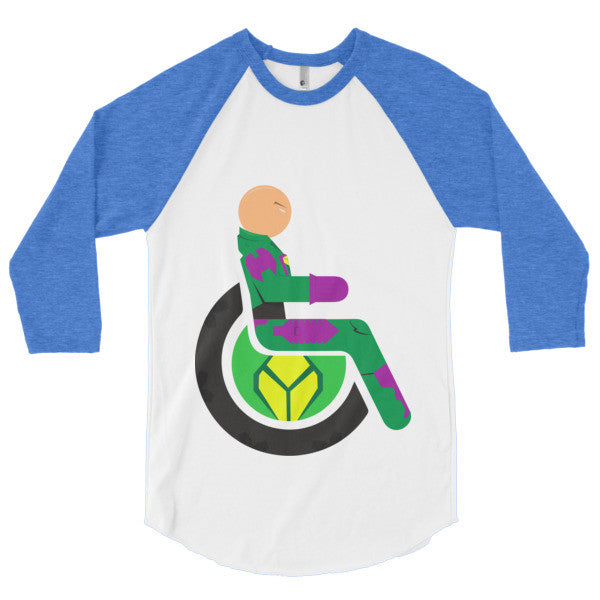 Men's Adaptive Lex Luthor 3/4 Sleeve Raglan Shirt