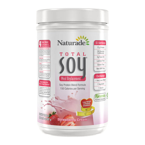 NATURADE - Total Soy All Natural Powder, Strawberry Cream