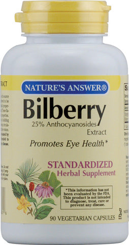 Natures Answer Bilberry Standardized