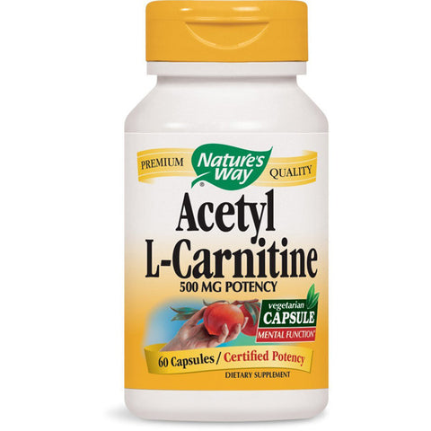 NATURES WAY - Acetyl L-Carnitine 500 mg