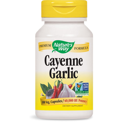 NATURES WAY - Cayenne Garlic 40,000 HU Potency