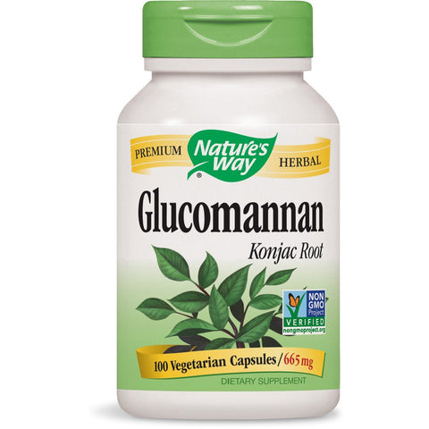 NATURES WAY - Glucomannan Konjac Root 665 mg