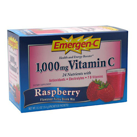Alacer Corp - Emergen-C 1000 mg Vitamin C Raspberry - 30 x 0.3 oz. Packets