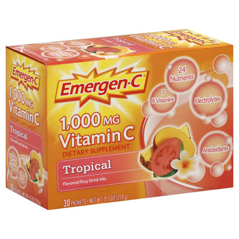 Alacer Corp - Emergen-C 1000 mg Vitamin C Tropical - 30 x 0.3 oz. Packets