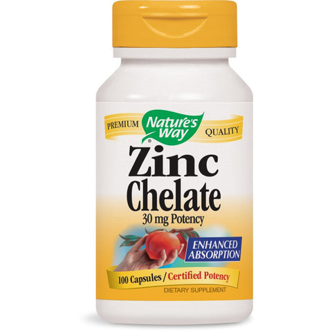 NATURES WAY - Zinc Chelate 30 mg Potency