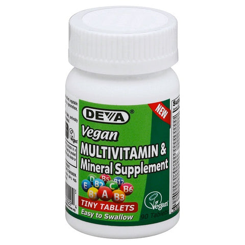 Deva Nutrition Vegan Tiny Tablets Multivitamin Mineral