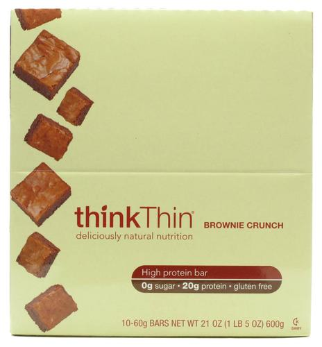 Think Products ThinkThin Protein Bars Brownie Crunch