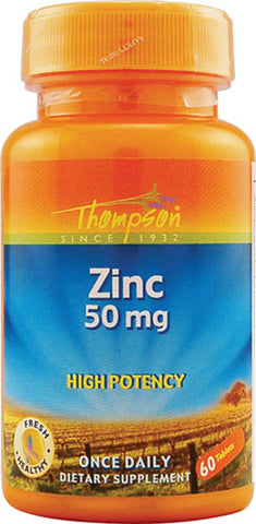 Thompson Nutritional Zinc 50 mg High Potency