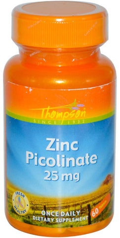 Thompson Nutritional Zinc Picolinate 25 mg