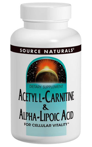 Source Naturals Acetyl L Carnitine Alpha Lipoic Acid
