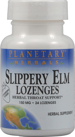 Planetary Herbals Slippery Elm Lozenges Strawberry