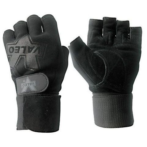 Valeo Performance Wrist Wrap Lifting Gloves Black Small