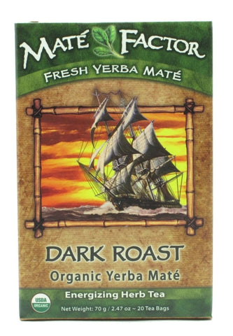 The Mate Factor Organic Dark Roast Yerba Mate Tea Bags