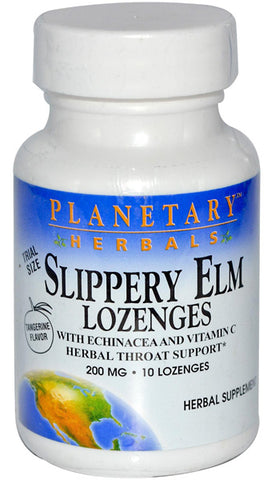 Planetary Herbals Slippery Elm Lozenges with Echinacea  Vitamin C