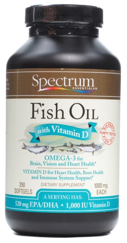 Spectrum Naturals Fish Oil with Vitamin D