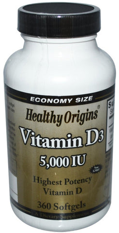 Healthy Origins Vitamin D3 5000IU