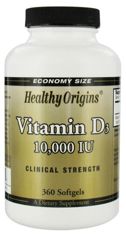 Healthy Origins Vitamin D3 10000IU