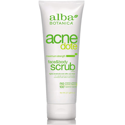 Alba Botanica - Natural ACNEdote Face & Body Scrub - 8 oz. (227 g)