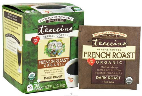 Teeccino French Roast Herbal Coffee Tee Bags