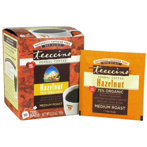 Teeccino Hazelnut Herbal Coffee Tee Bags