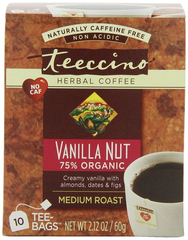Teeccino Mediterranean Vanilla Nut Herbal Coffee Tee Bags