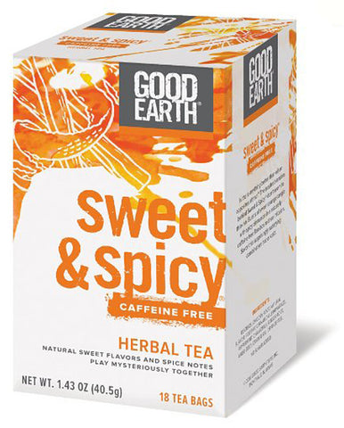 Good Earth Original Sweet Spicy Herbal Tea Caffeine Free