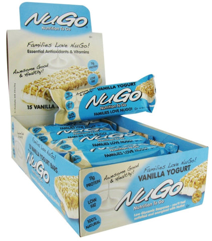 NuGo Nutrition Bars Vanilla Yogurt