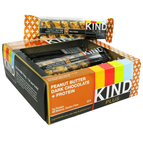 KIND Fruit and Nut Bars Plus Bars Peanut Butter Dark Chocolate