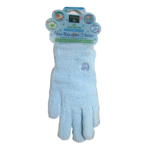 EARTH THERAPEUTICS - Aloe Moisture Ultra Plush Moisturizing Gloves Blue