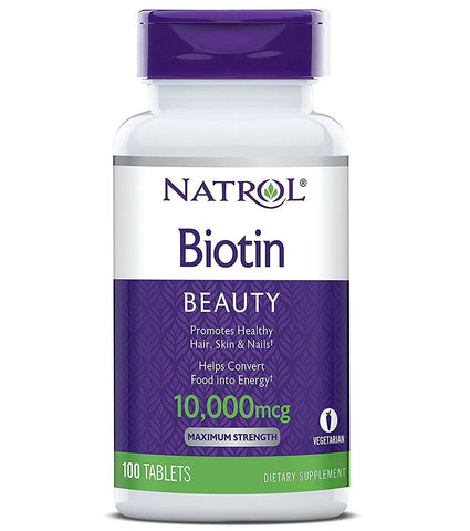Natrol Biotin 10000 mcg Maximum Strength
