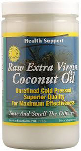 HEALTH SUPPORT - Raw Extra Virgin Coconut Oil Jar