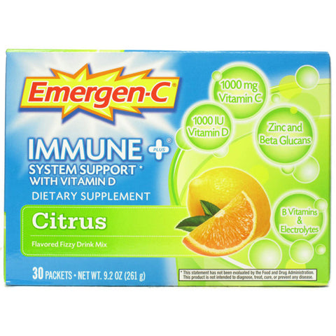 Alacer Corp - Emergen-C Immune+ System Support w Blueberry/Acai - 30 Packets