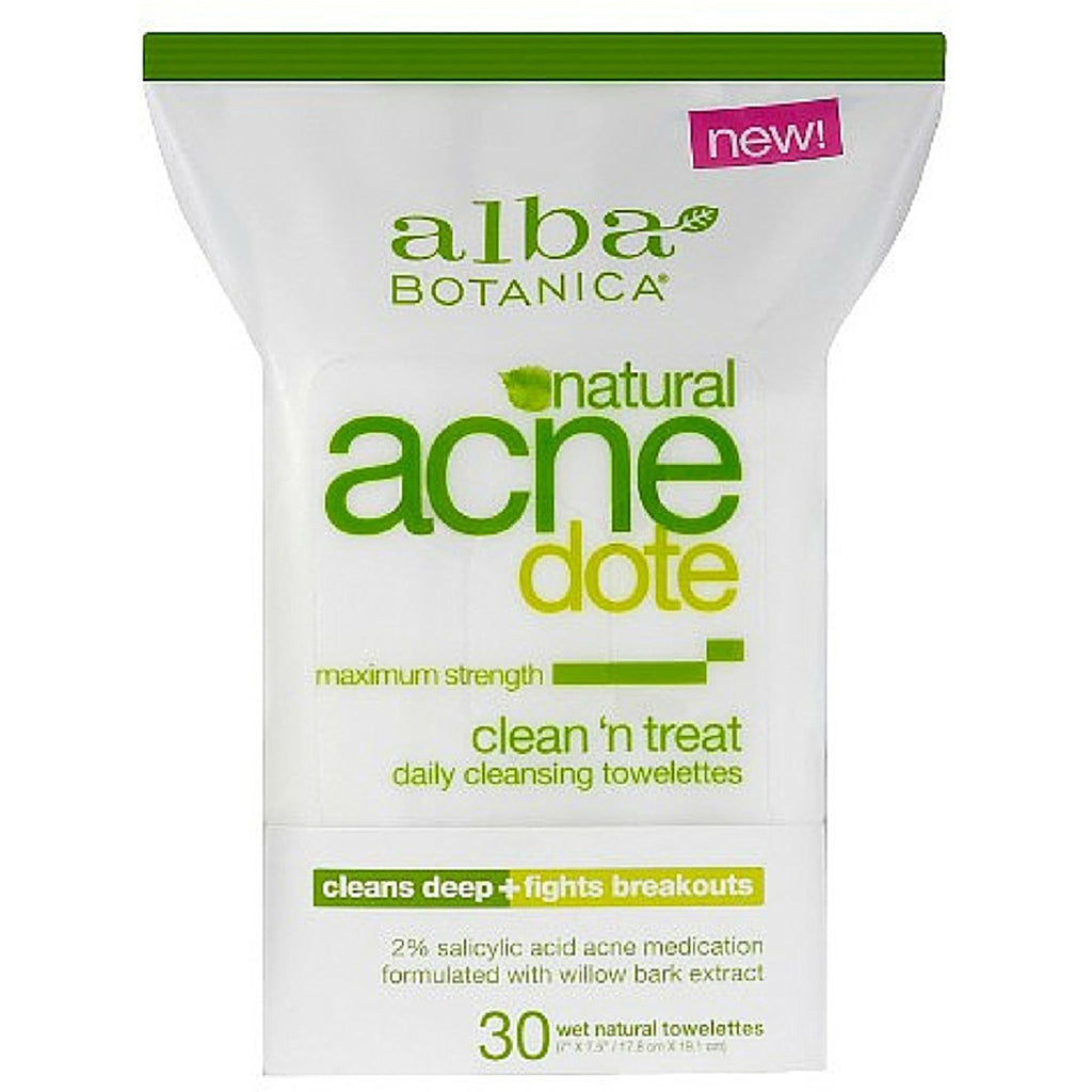 Alba Botanica - AcneDote Clean & Treat Towelette - 30 Towelettes