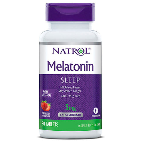 Natrol Melatonin 5mg Fast Dissolve Stawberry