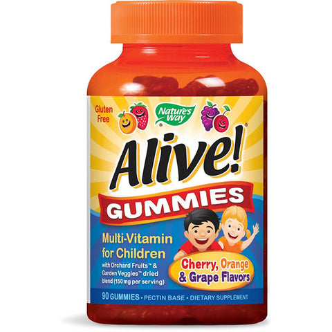 NATURES WAY - Alive Childrens Multi-Vitamin Natural Cherry Grape and Orange