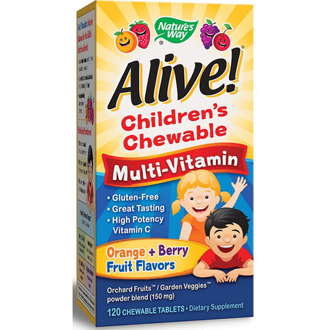 NATURES WAY - Alive Childrens Multi-Vitamin Natural Orange and Berry