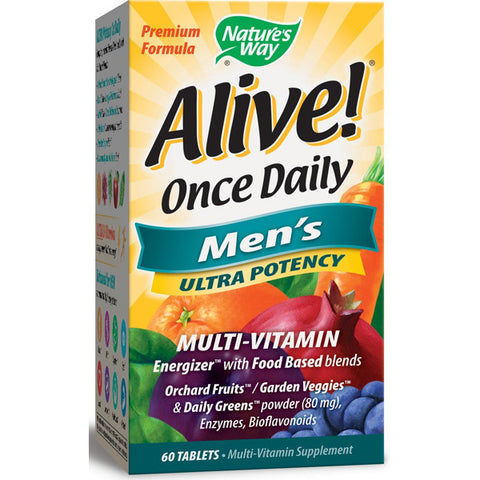 NATURES WAY - Alive! Once Daily Mens Ultra Potency Multi-