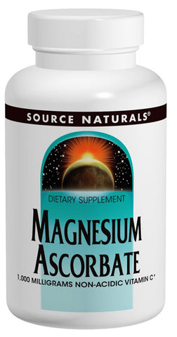 Source Naturals Magnesium Ascorbate - 60 Tablets (1,000 mg)