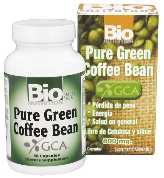 BIO NUTRITION - Pure Green Coffee Bean - 50 Capsules