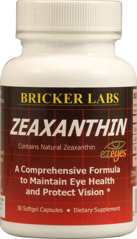 BRICKER LABS - Zeaxanthin with Lutein - 30 Softgels