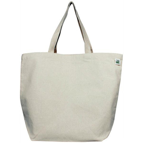 ECO-BAGS - Recycled Cotton Canvas Shopping Tote