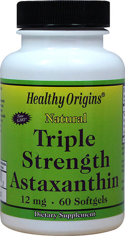 Healthy Origins -  Astaxanthin 12 mg Triple Strength