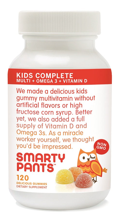 Smartypants -  Gummy Vitamins With Omega 3 Fish Oil And Vitamin D, 120 Count