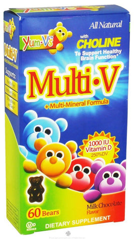Yumv's - Multi V'S +Mineral Formula With Vitamin D, Chocolate 60 Count ( Multi-Pack)